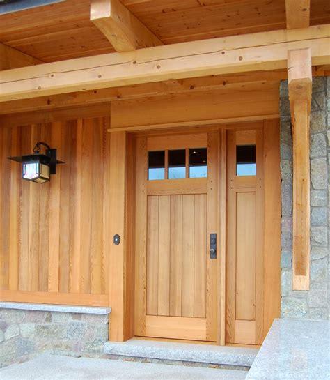 cedar exterior doors the design of a custom cedar door with a single sidelight