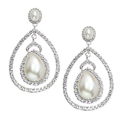 of pearl chandelier earrings italian luxe collection luxury swarovski wedding