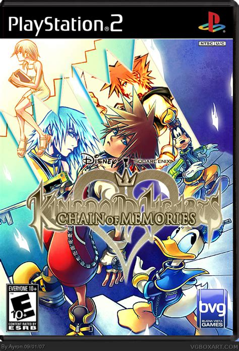kh chain of memories kingdom hearts chain of memories playstation 2 box