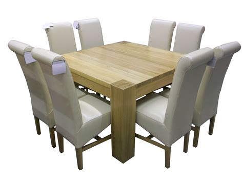 square oak dining table for 8 r895 solid oak square dining table
