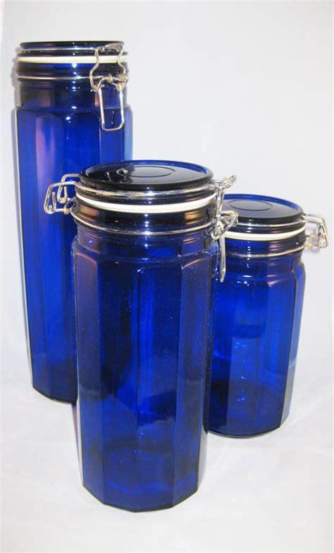 cobalt blue kitchen canisters cobalt blue kitchen canisters medium canister