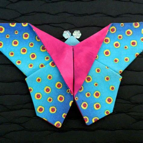 origami butterfly pattern origami fabric butterfly brooches tutorial pattern by la
