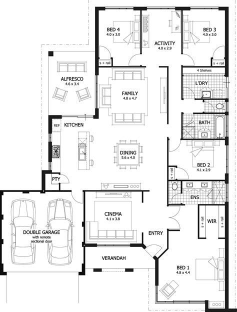 cheap 4 bedroom house plans 1 bedroom floor plan shoise floor free home
