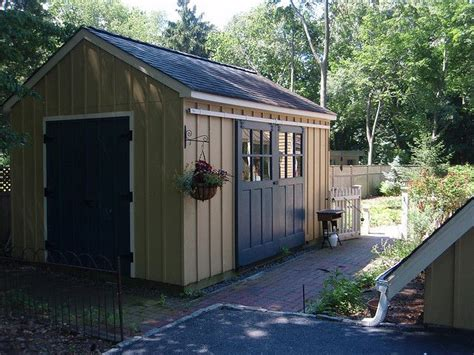 cobertizo oficina shed with sliding barn doors adore for the home