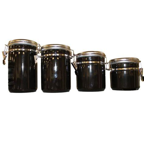 4 kitchen canister sets anchor hocking 4 ceramic canister set in black