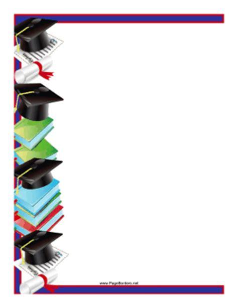 mortarboards diplomas border