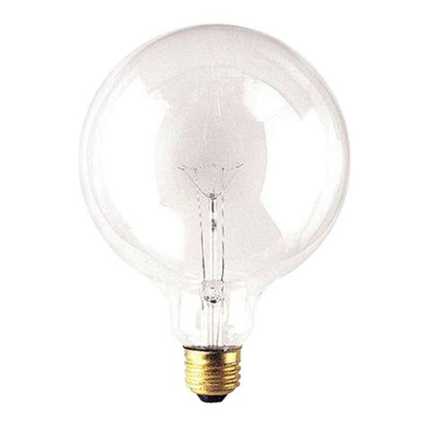 home depot led light bulb ge 25w equivalent soft white 2700k g16 5 clear dimmable