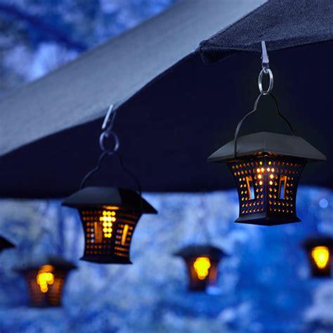 patio umbrella lighting patio umbrella with hanging solar lights rustic patio