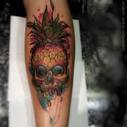 forearm pineapple skull best tattoo design ideas