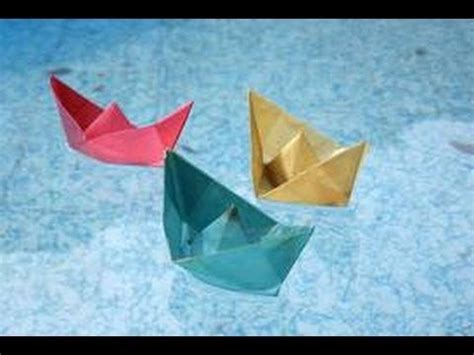 origami sailboat that floats how to make origami paper boat floats on water