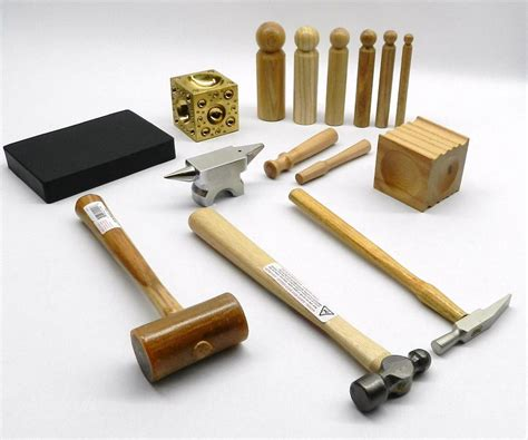 equipment for jewelry metalsmith tool kit basic blocks hammers metal smithing