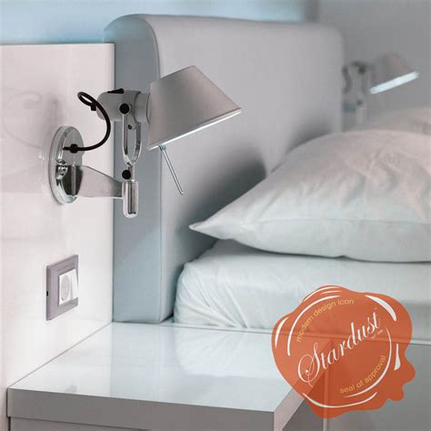 wall reading lights bedroom pin artemide tolomeo on