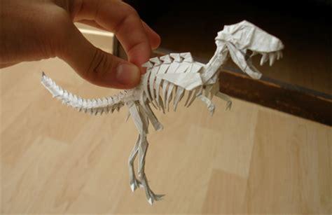 origami t rex skeleton amazing origami sculptures rania s random corner