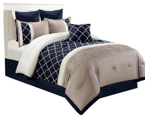 park 7 comforter set central park 7 embroidered comforter set navy king
