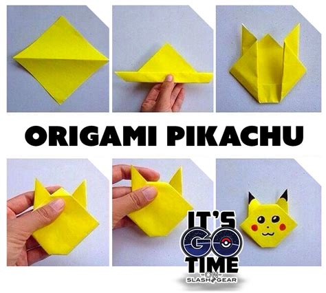 origami pikachu 5 go drop projects to keep creating