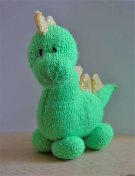 knit a dinosaur dinky dino knitting pattern knitting by post