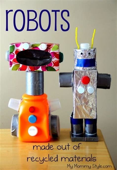 crafts made from recycled materials for 25 best ideas about recycled robot on