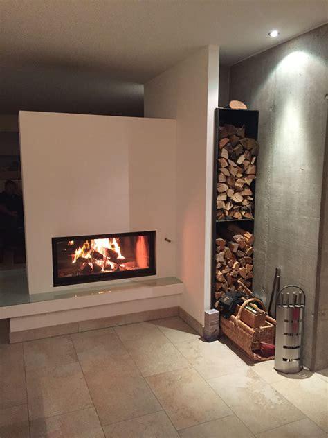 Badezimmermöbel Rosenheim by Durchsichtkamin Als Raumteiler Verbaut Die Stahlholzlege