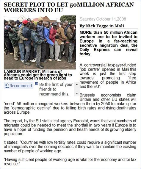 secret plot secret plot to open eu borders with africa for 50 million