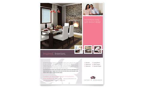 interior design flyers interior designer flyer template design