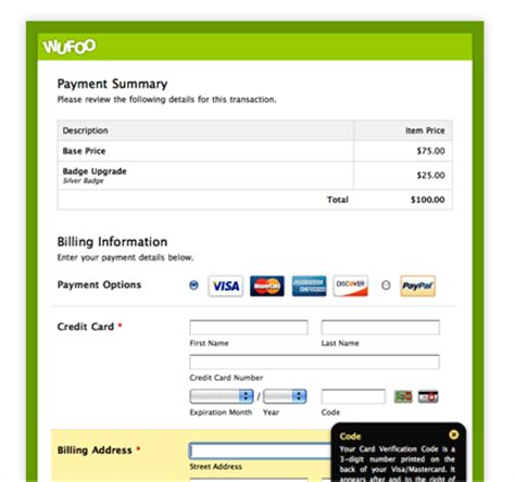 can we make payment from credit card to credit card collect and process payments donations and orders wufoo