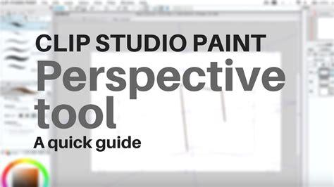 paint tool sai perspective ruler clip studio paint perspective tool tutorial