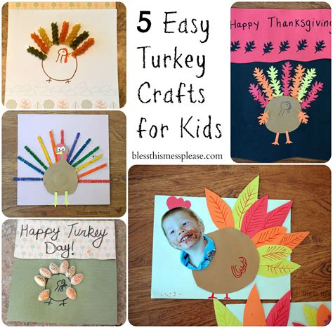 easy thanksgiving crafts 5 easy turkey crafts for bless this mess
