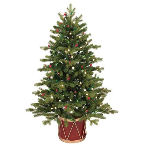 slim trees pre lit shop ge 4 ft pre lit colorado spruce slim artificial