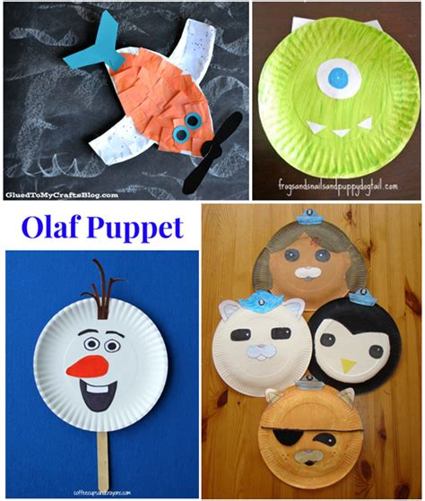 disney craft projects 15 kid characters from paper plates i arts n crafts