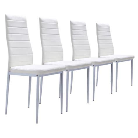 lot de 4 chaises blanches achat vente chaise soldes