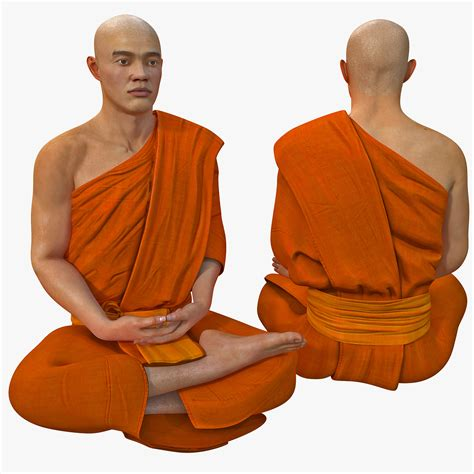 buddhist meditation 3ds max buddhist monk seated meditation