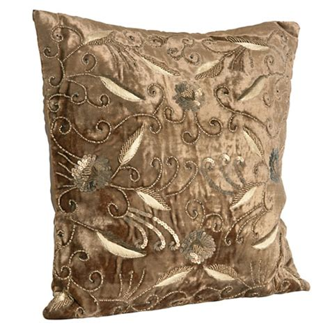 beaded decorative pillows beaded velvet gold decorative throw pillow free shipping