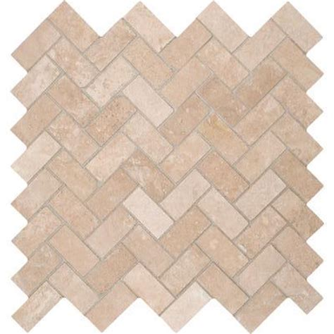 tuscany ivory herringbone honed travertine mosaic tile