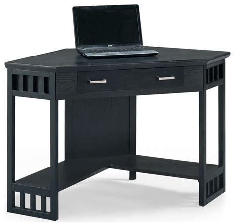 black corner computer desks for home leick furniture home office black corner computer