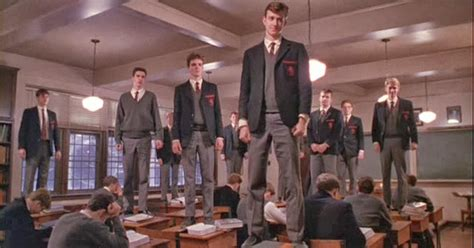 dead poets society standing on desks robin williams o captain my captain food for thought