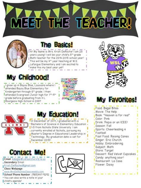 meet the teacher newsletter editable first day of
