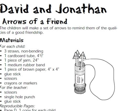 David And Jonathan Sunday School Lesson Myideasbedroom