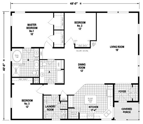 floor plans for mobile homes wide wide floor plans three section home plans