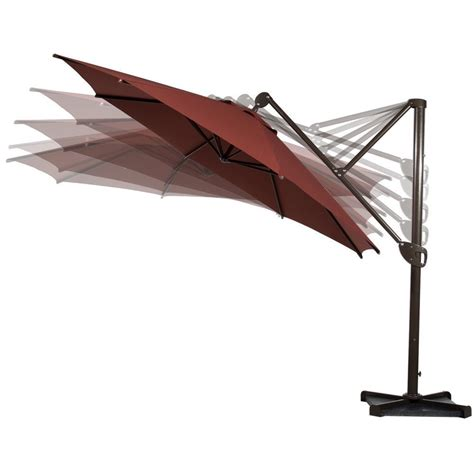 cantilever patio umbrellas outdoor hanging canopy with vertical tilt and cross base