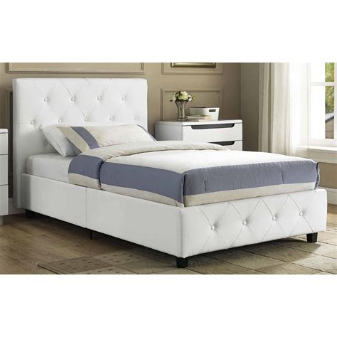 white upholstered bed frame leather upholstered bed faux white frame