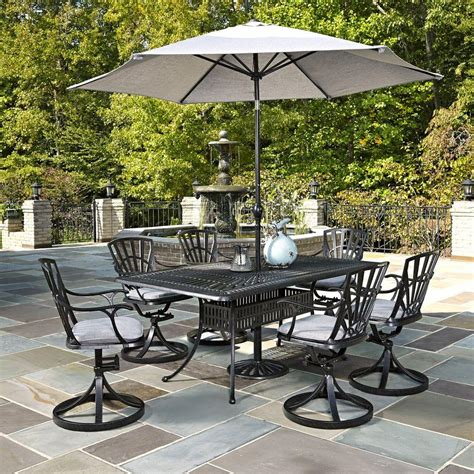 patio dining sets with umbrella home styles largo 7 outdoor patio dining set with