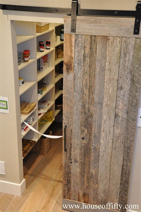 barn door for pantry pantry barn door cottage kitchen house of fifty