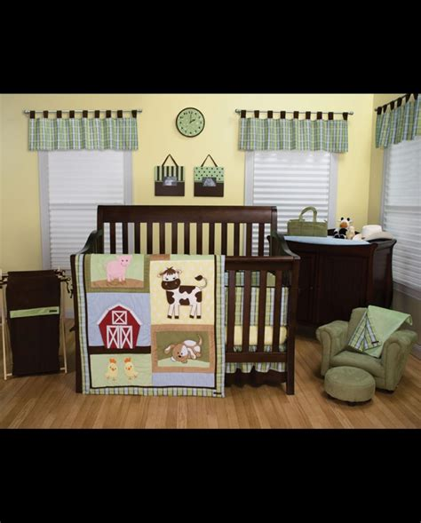 barnyard crib bedding baby barnyard crib bedding set 4 fort brands