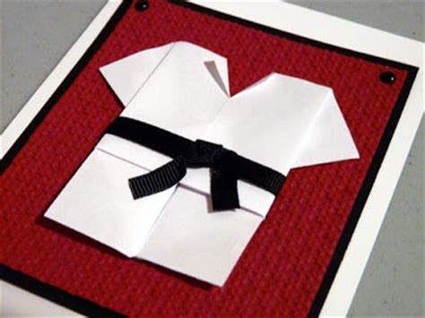 origami martial arts craft therapy with karate birthday card