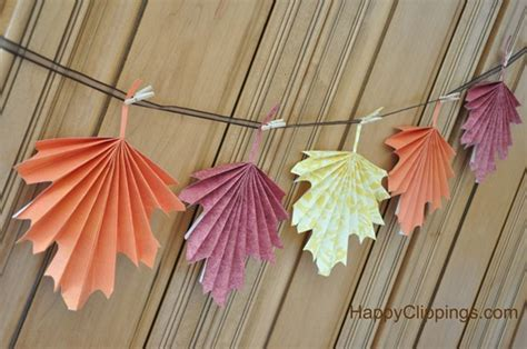 paper leaf craft 7 simple diy thanksgiving decorations the paper