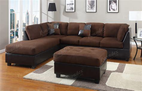 sectional sofa microfiber chocolate sectional 3 pc set microfiber sofa