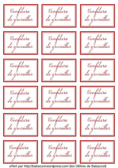 233 tiquettes confitures babanew