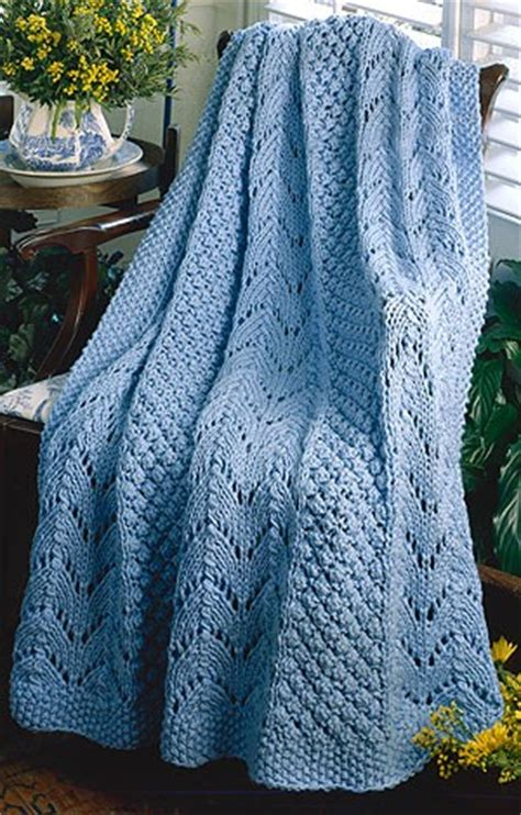 pattern for knitted afghan free craft passions fan knit afghan free knitting pattern