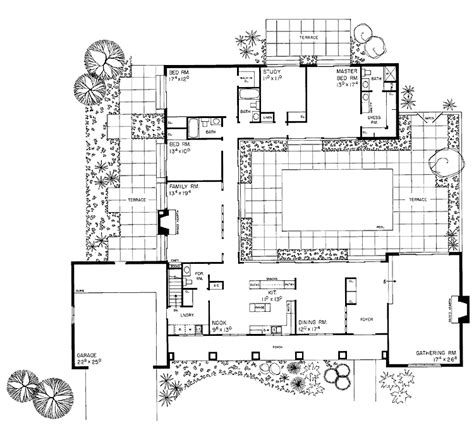 house plans with courtyard courtyard plan house plans for the compound ranch homes house plans and squares
