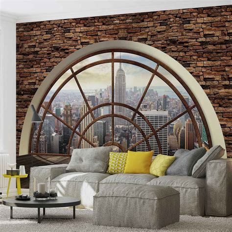wall mural from photo wall mural new york city skyline window photo